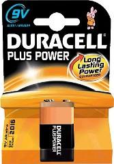 Pila alcalina DURACELL Plus Power 6LR61 9v.