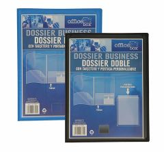 Dossier doble personalizable OFFICE BOX azul 27729