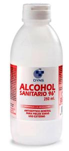 Alcohol sanitario DYNS 96º Bote 250ml