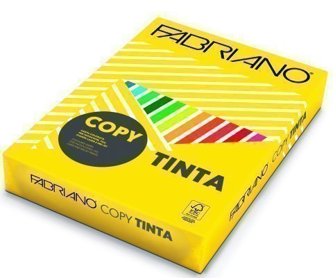 Papel color FABRIANO  A4 80g amarillo intenso Pack 100h
