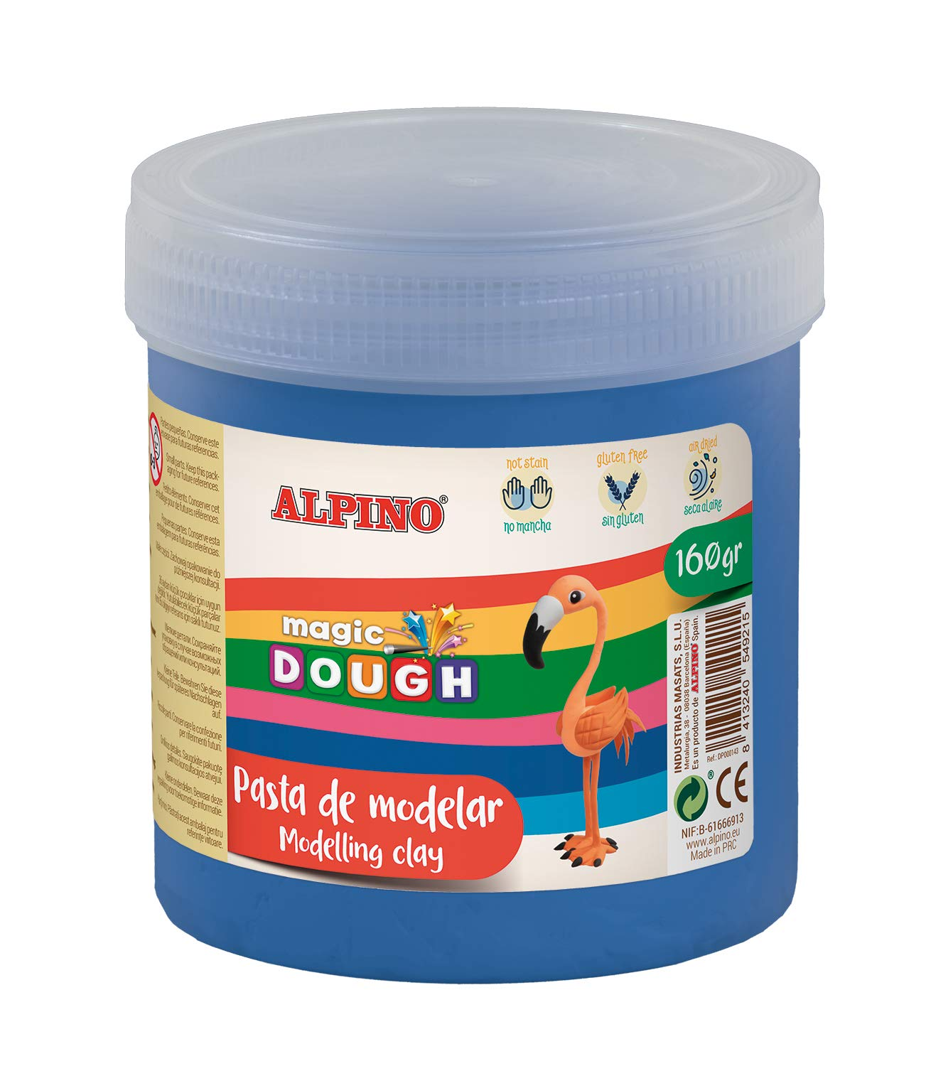 Pasta modelar ALPINO Magic Dough 160g azul DP000148