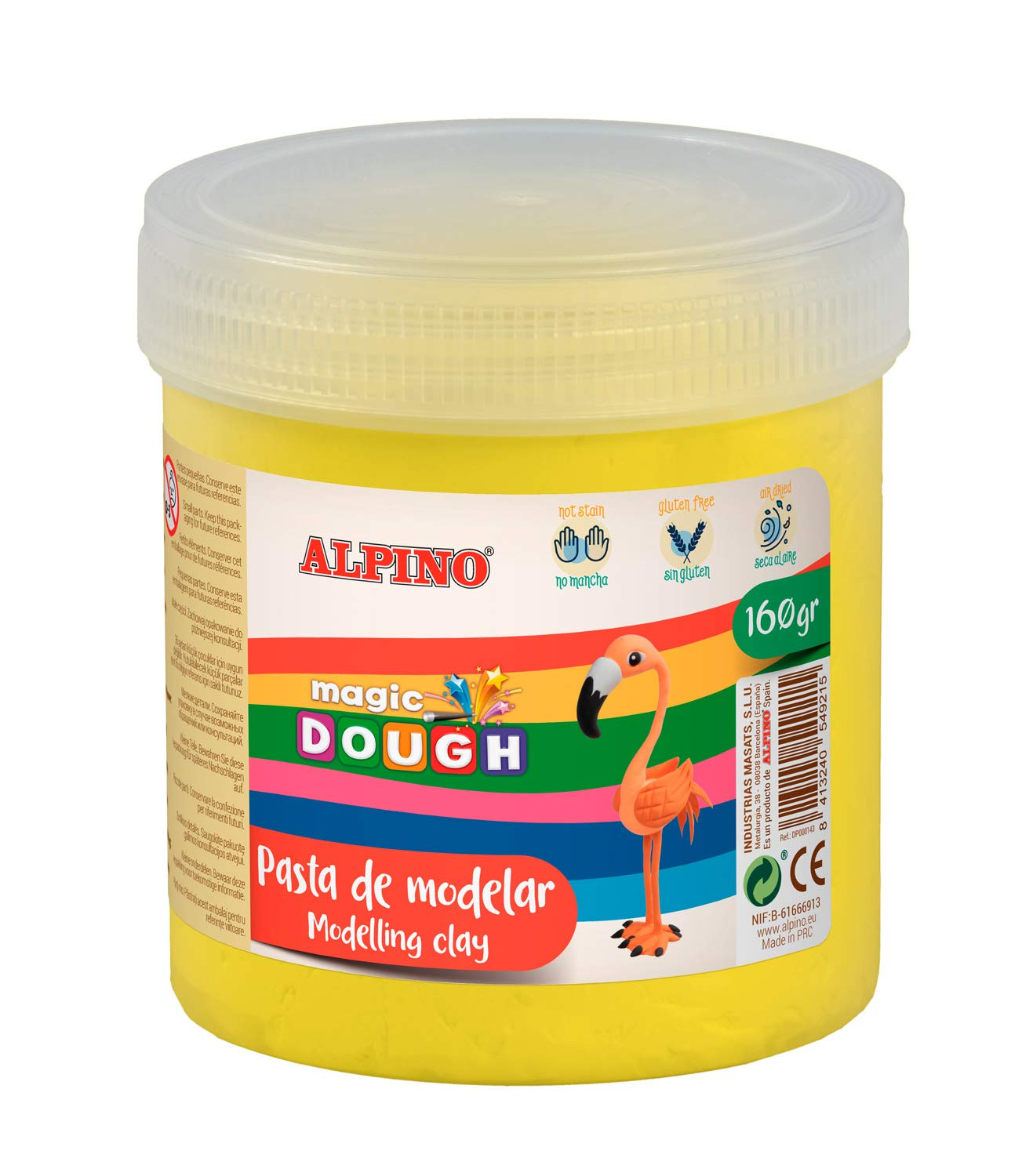 Pasta modelar ALPINO Magic Dough 160g amarillo DP000144