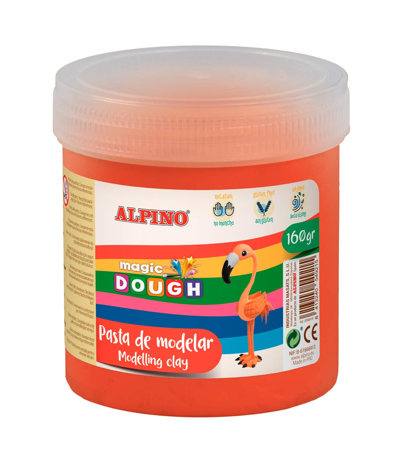 Pasta modelar ALPINO Magic Dough 160g rojo DP000146
