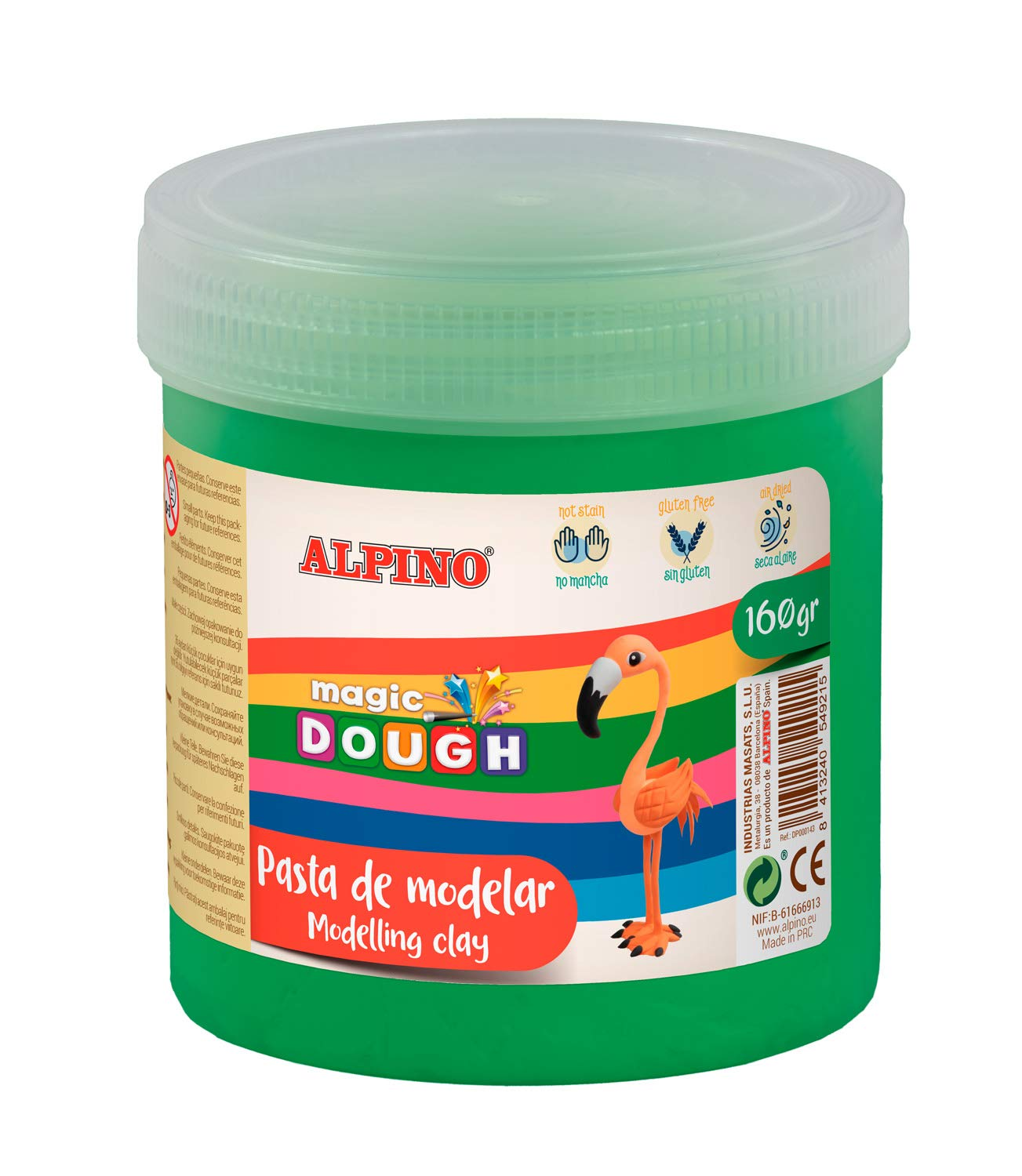 Pasta modelar ALPINO Magic Dough 160g verde DP000147