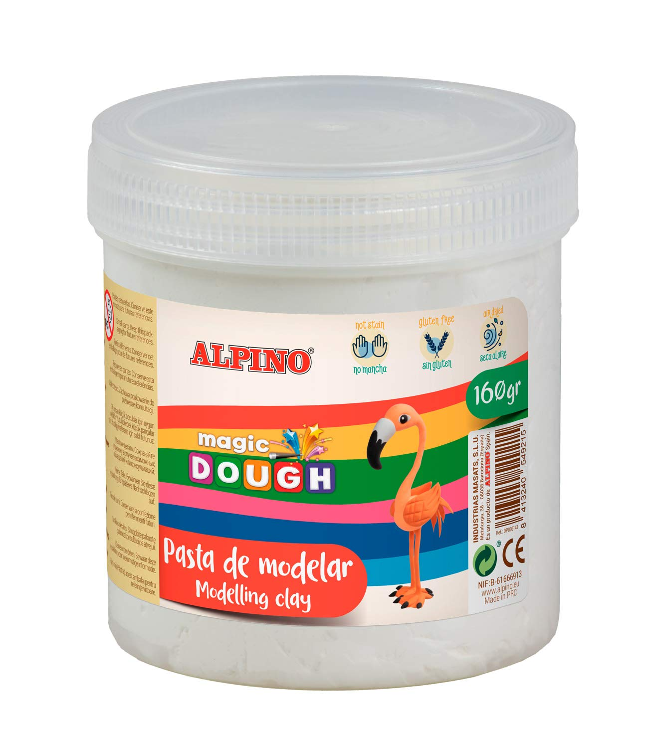 Pasta modelar ALPINO Magic Dough 160g blanco DP000143