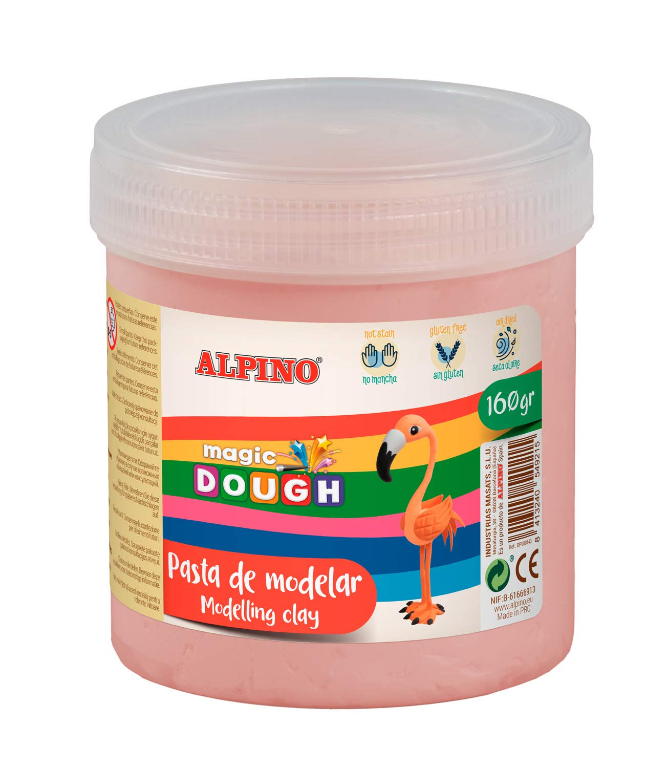 Pasta modelar ALPINO Magic Dough 160g carne DP000145