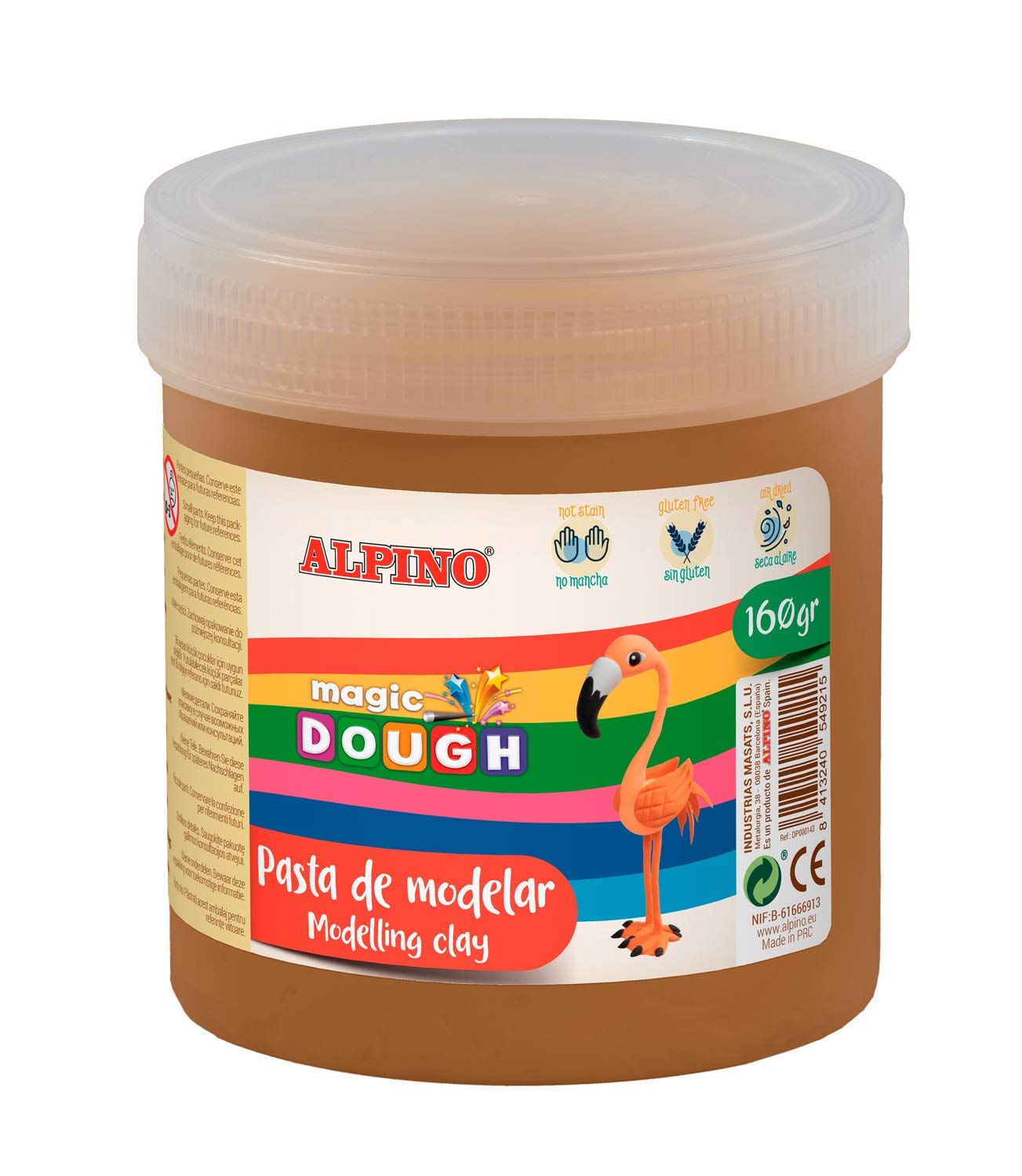 Pasta modelar ALPINO Magic Dough 160g marrón DP000149